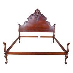 Henredon for Ralph Lauren Hudson Chippendale Style Baroque Mahogany King Bed
