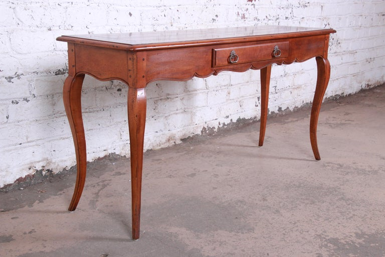 American Henredon French Country Louis XV Style Console Table For Sale