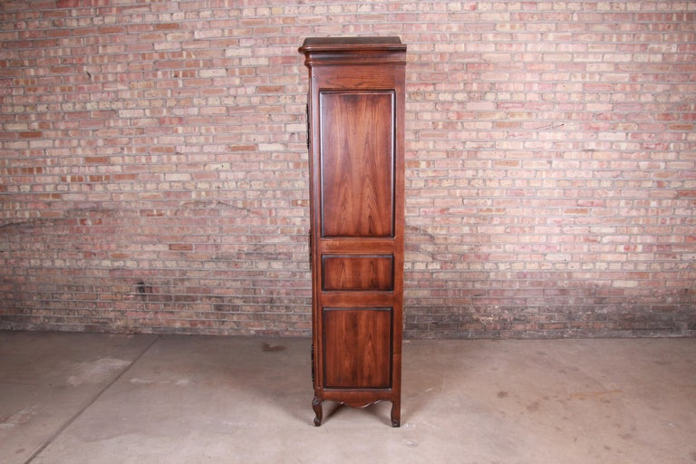 Henredon French Provincial Louis XV Carved Walnut Armoire Dresser 5