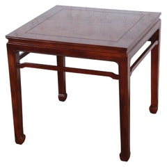 Henredon Hollywood Regency Chinoiserie Burl Wood and Mahogany Side Table