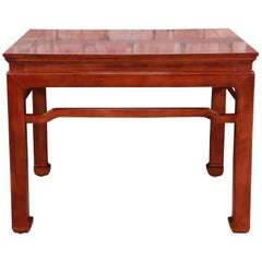 Henredon Hollywood Regency Chinoiserie Carved Mahogany Occasional Side Table
