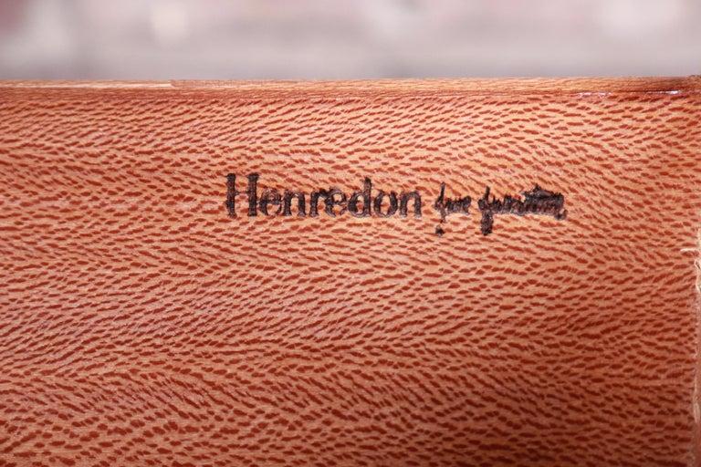 Henredon Hollywood Regency Chinoiserie Mahogany and Brass Bachelor Chest 9