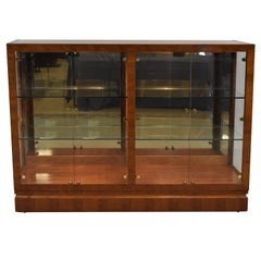 Henredon Mahogany Lighted Display Cabinet