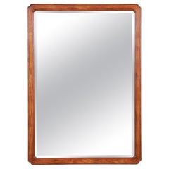 Henredon Oak Beveled Mirror