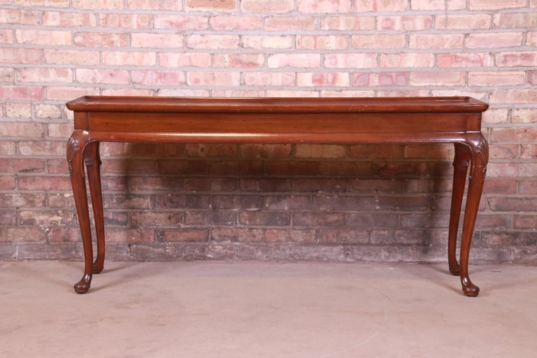 Henredon Queen Anne Mahogany Console or Sofa Table For Sale 4