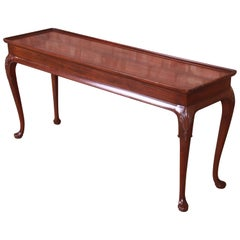 Henredon Queen Anne Mahogany Console or Sofa Table
