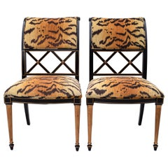 Henredon Regency Style Side Chairs in the Manner of Dorothy Draper
