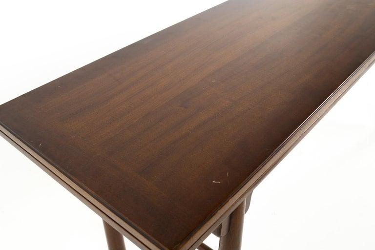 Henredon Robsjohn Gibbings Style Mid Century Walnut Drop-Leaf Dining Table For Sale 5