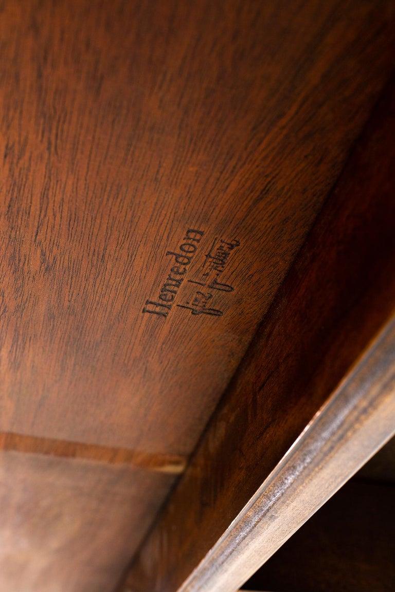 Henredon Robsjohn Gibbings Style Mid Century Walnut Drop-Leaf Dining Table For Sale 6