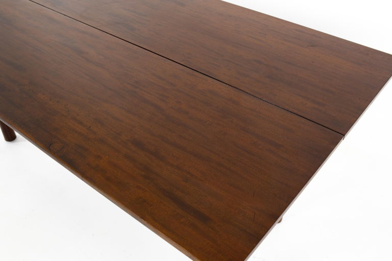 American Henredon Robsjohn Gibbings Style Mid Century Walnut Drop-Leaf Dining Table For Sale