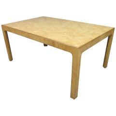 Henredon Scene Two Mid-Century Modern Vintage Burl Wood Dining Extension Table
