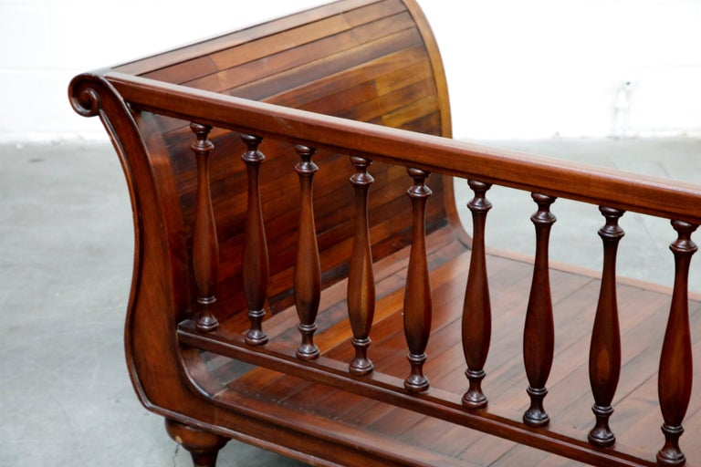 Henredon Sleigh Daybed or Sofa with Spindle Back and Rolled Arms, Signed For Sale 9