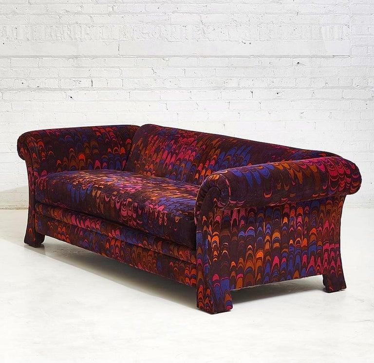 Mid-20th Century Henredon Sofas in Jack Lenor Larsen Velvet For Sale