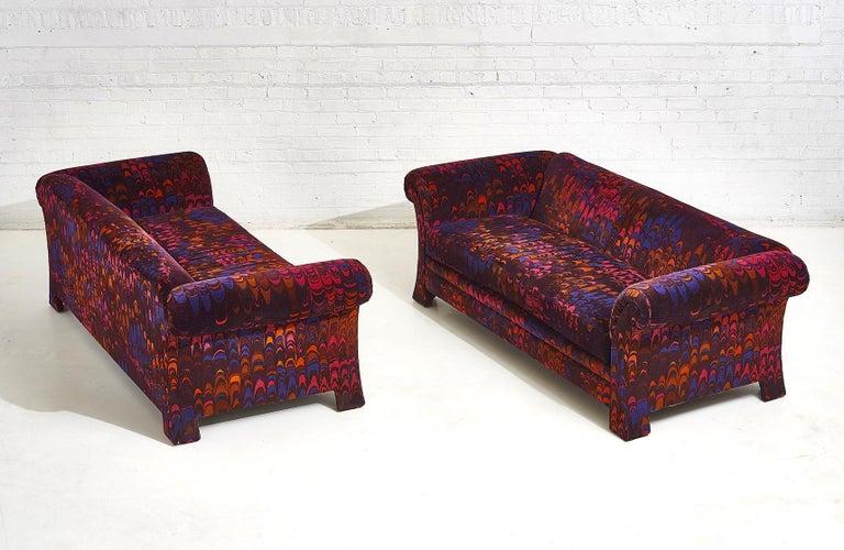 Henredon Sofas in Jack Lenor Larsen Velvet For Sale 1