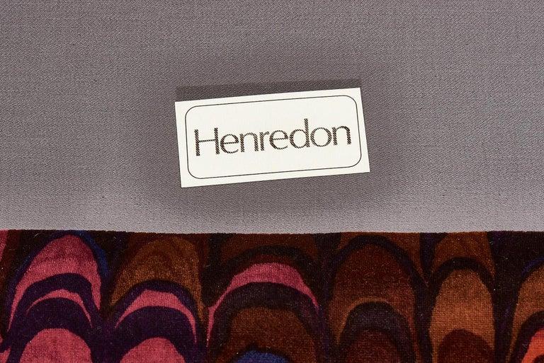 Henredon Sofas in Jack Lenor Larsen Velvet For Sale 3