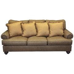 Henredon Upholstery Collection Tweed Traditional 3-Seat Sofa Natchez