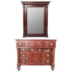 Henredon Vintage Flame Mahogany Commode Ten Drawer Chest Dresser 4300-01