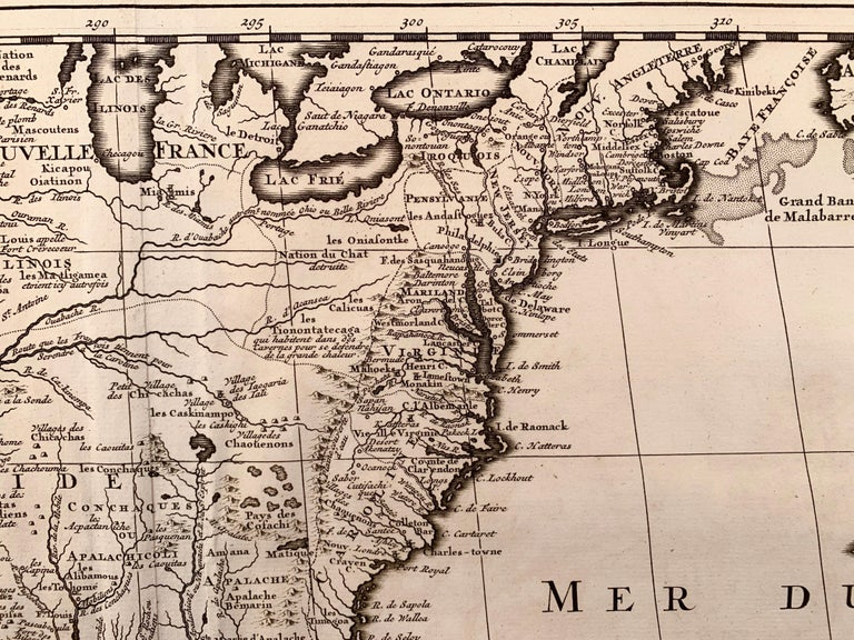 1719 Chatelain Map of Mexico, Southeast North America and the Caribbean  - Print by Henri-Abraham Chatelain