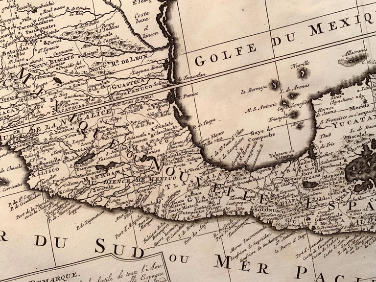 Original first edition 1719 engraved map, full title in French