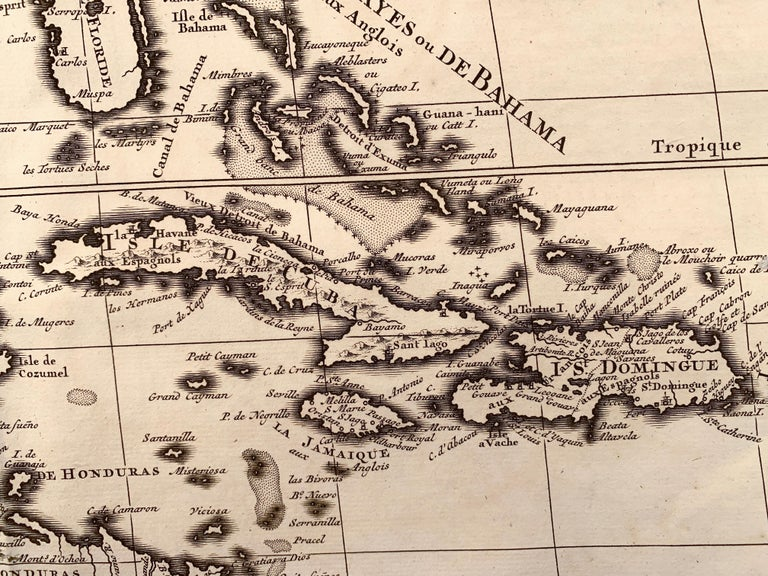 1719 Chatelain Map of Mexico, Southeast North America and the Caribbean  For Sale 1