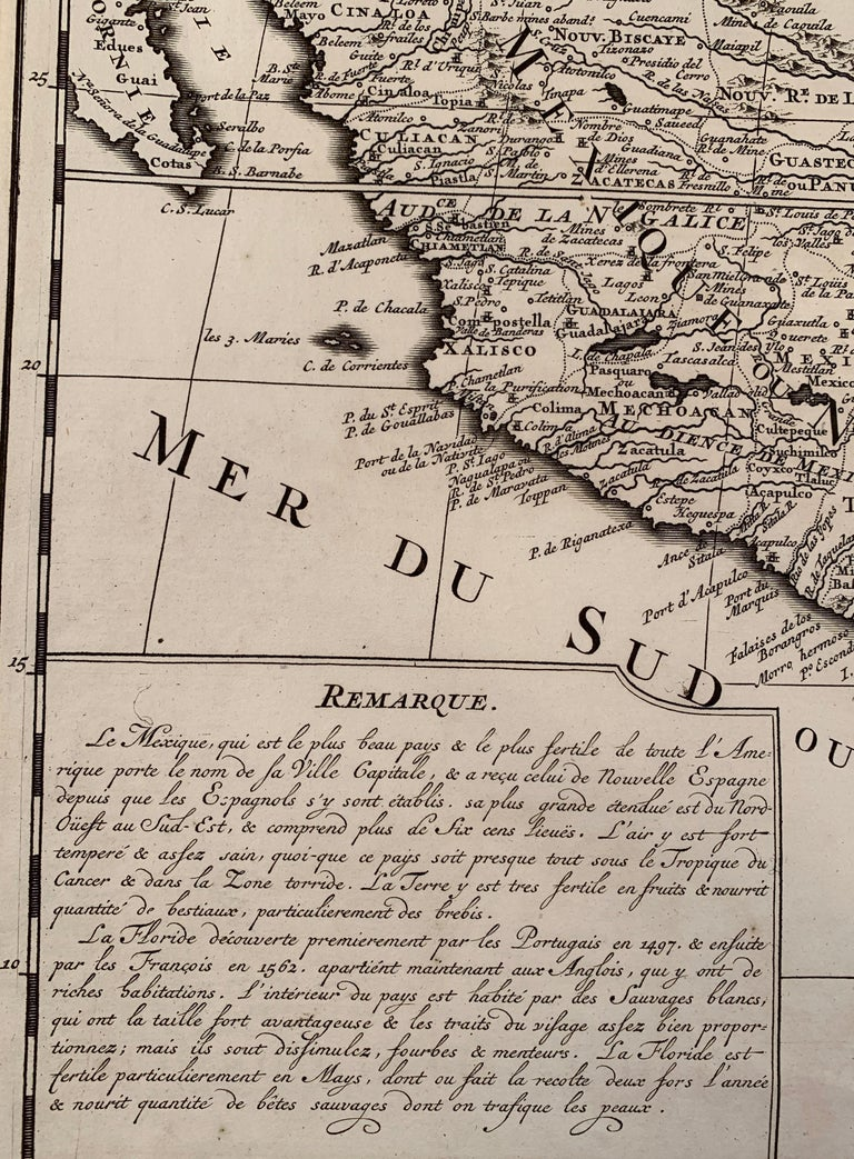 1719 Chatelain Map of Mexico, Southeast North America and the Caribbean  For Sale 2