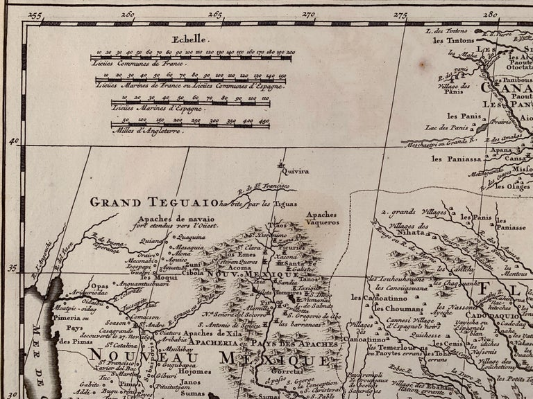 1719 Chatelain Map of Mexico, Southeast North America and the Caribbean  For Sale 3