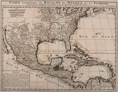 1719 Chatelain Map of Mexico, Southeast North America and the Caribbean