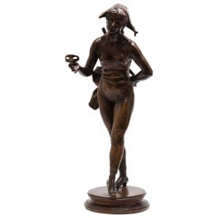 "Henri Allouard ""Colombina"" French Belle Epoque Bronze Sculpture"