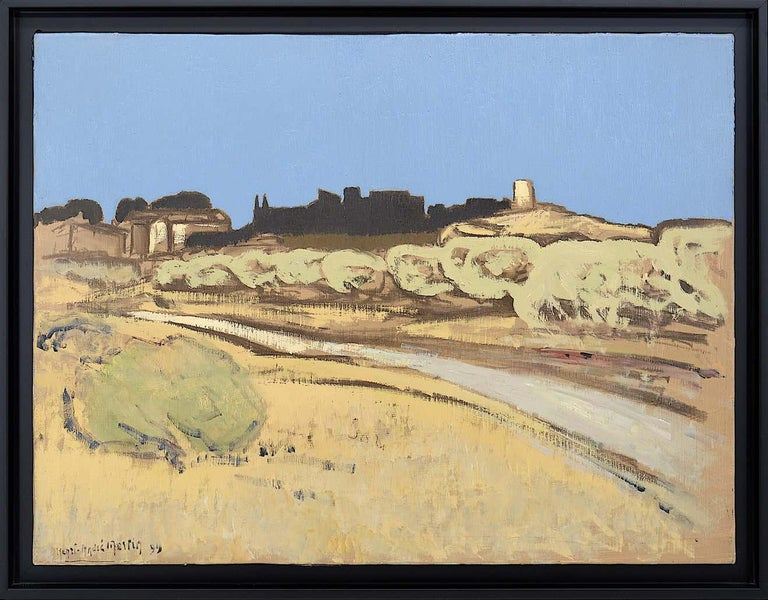 Henri-André Martin Road in Eygalieres, Alpilles, Provence, Oil on Canvas, 1999 - Painting by Henri-André Martin