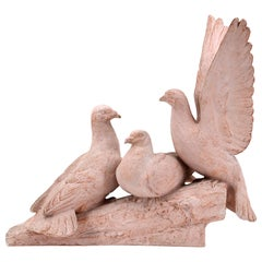 Henri Bargas, the Three Doves, Terracotta, 1920s