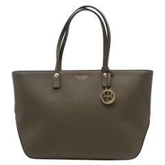 Henri Bendel Dark Green Tote Bag