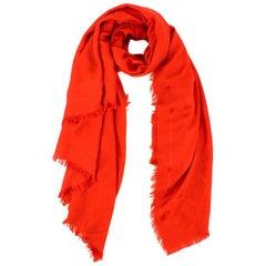 Henri Bendel Red Wool & Silk-blend Scarf