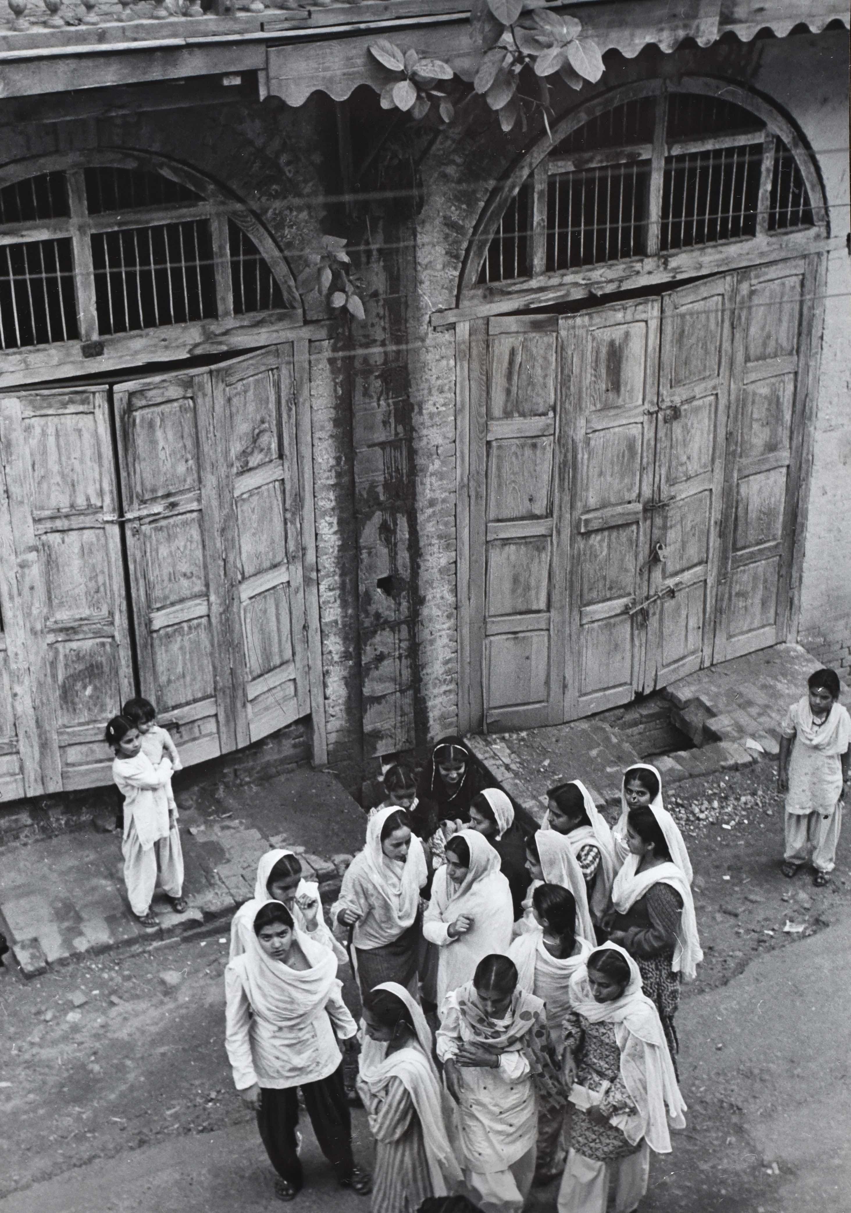 Women in Refugee Camp, Jammu, Kashmire, India, Vintage Gelatin Silver Print