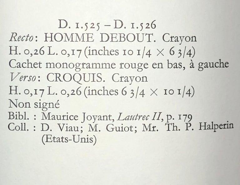 Henri De Toulouse Lautrec pencil Drawings Catalogued For Sale 1