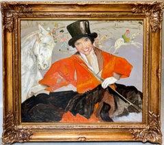 Large French Post Impressionist painting - The circus - Horse Toulouse Lautrec