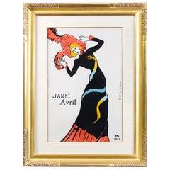"""Henri de Toulouse-Lautrec """"Jane Avril"""" Lithograph"""