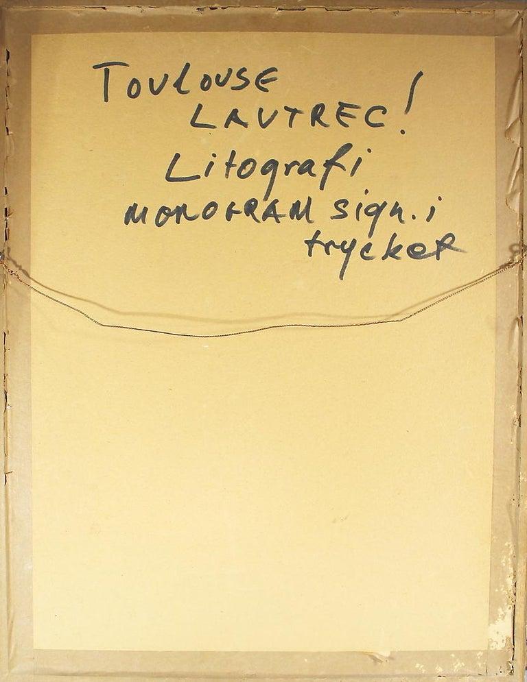Henri de Toulouse-Lautrec(1864-1901). Lithography, Old man, monogram signature in print.   Image size: 11.5 x 8.5 in. (29 x 22 cm.)