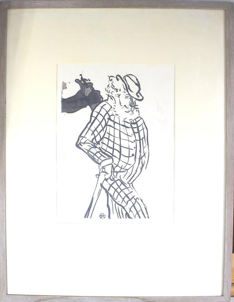 French Henri de Toulouse-Lautrec, Lithograph with Monogram Signature in Print For Sale