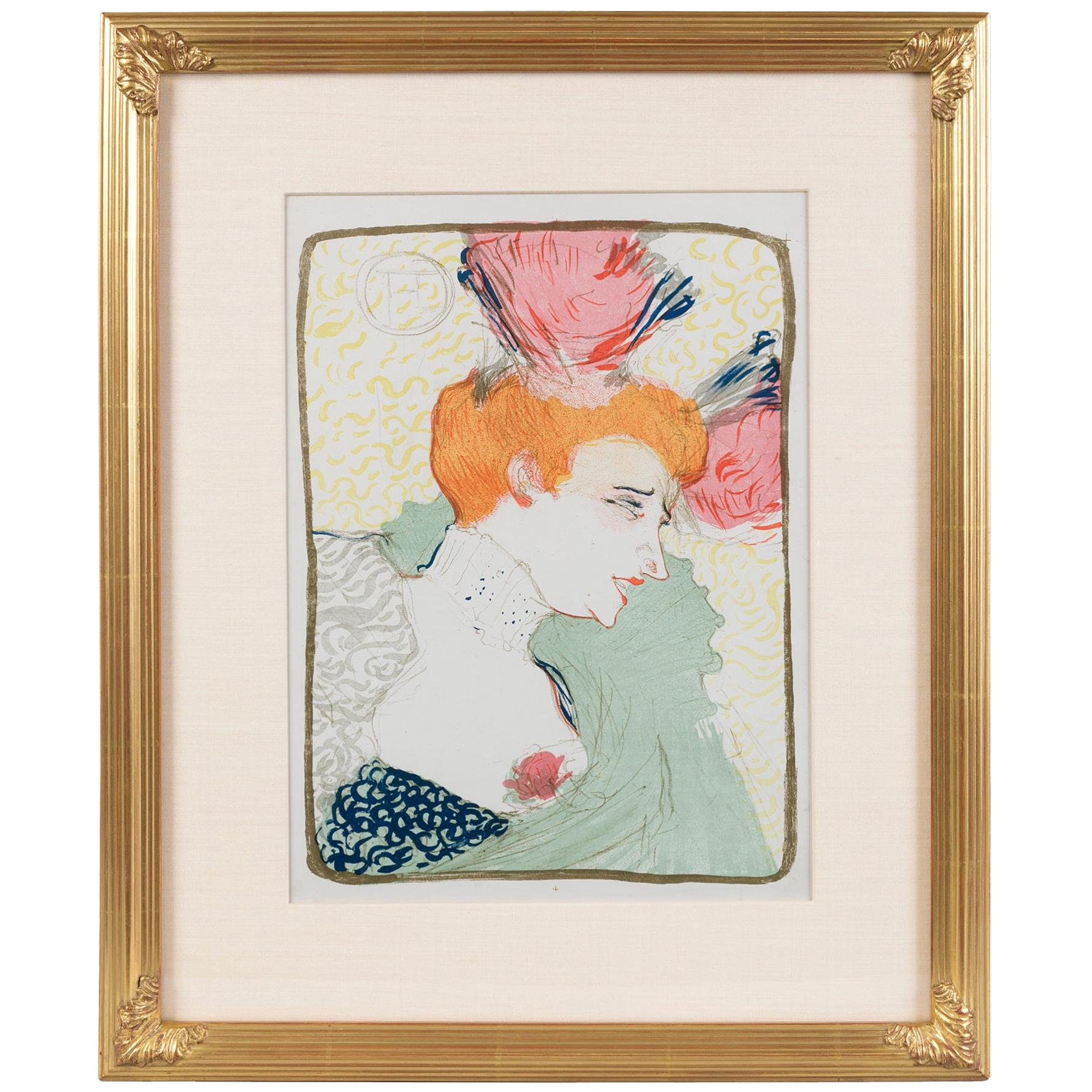 """Henri de Toulouse-Lautrec """"Mademoiselle Marcelle Lender"""" Lithograph"""