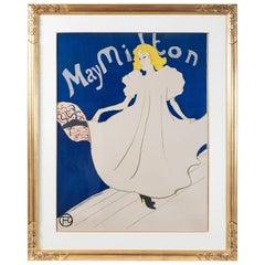 """Henri de Toulouse-Lautrec """"May Milton"""" Lithograph"""