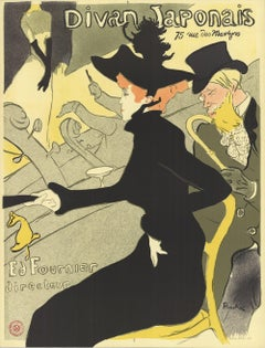 1974 After Henri de Toulouse-Lautrec 'Divan Japonais' Art Nouveau