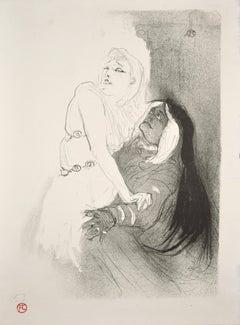 A la Renaissance: Sarah Bernhardt dans Phèdre, Original Lithograph