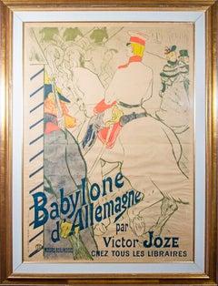'Babylone d'Allemagne' original lithograph poster by Henri de Toulouse-Lautrec