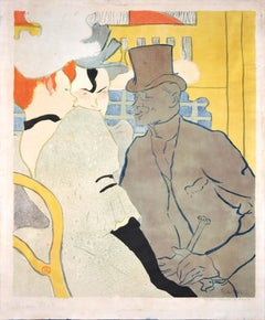 Englishman at the Moulin Rouge - Original Lithograph by H. Toulouse-Lautrec 1892