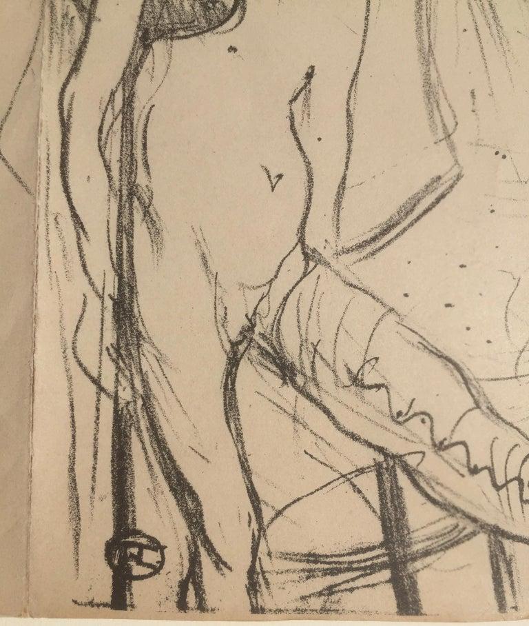 Eros Vanne - Cupid Exhausted - Beige Figurative Print by Henri de Toulouse-Lautrec