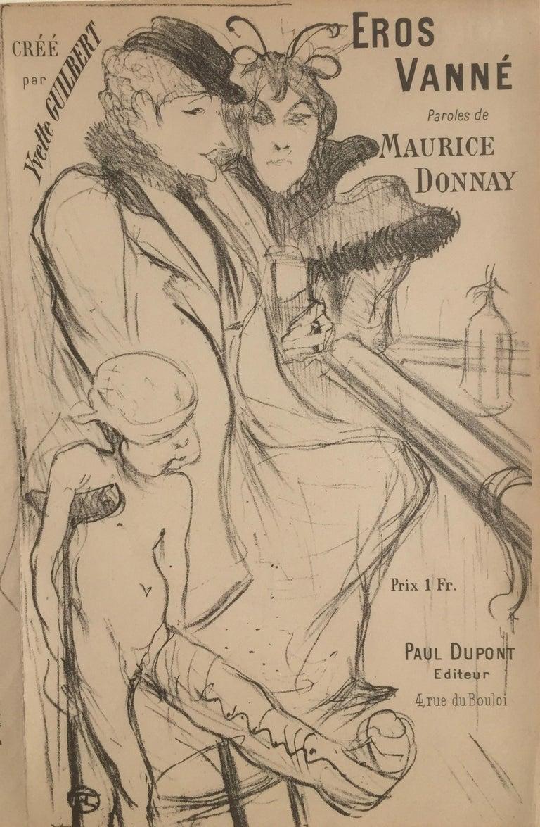Henri de Toulouse-Lautrec Figurative Print - Eros Vanne - Cupid Exhausted
