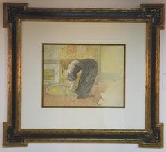 """""""Femme au Tub"""" from """"Elles"""" by Toulouse-Lautrec"""