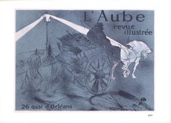 """Henri de Toulouse-Lautrec - L' Aube revue illustree - 1966 Lithograph 10.5"""" x 14"""