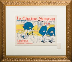 """LA CHAINE SIMPSON"" by Toulouse-Lautrec from Les Maitres de l'Affiche"