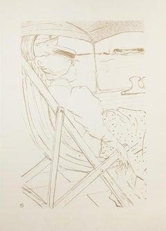 La Passagère du - Original Offset After Henri de Toulouse-Lautrec - 1970s
